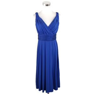 Suzi Chin for Maggy Boutique 6 Blue Sheath Dress